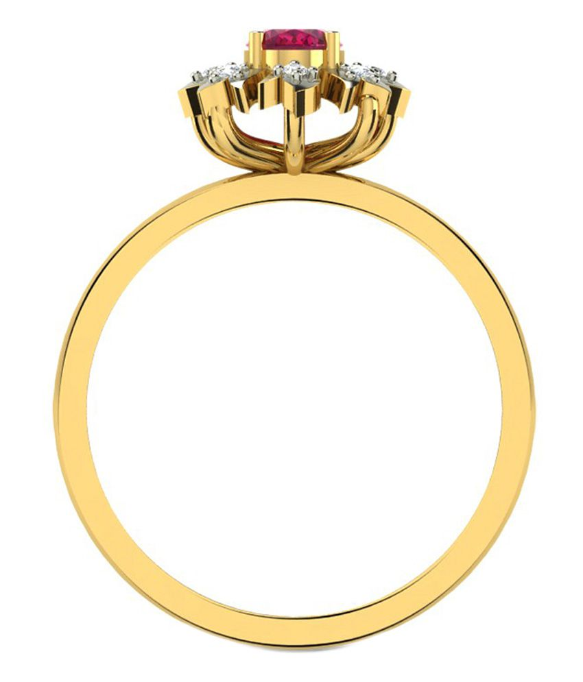 Sparkles 18kt Gold Modish Ring