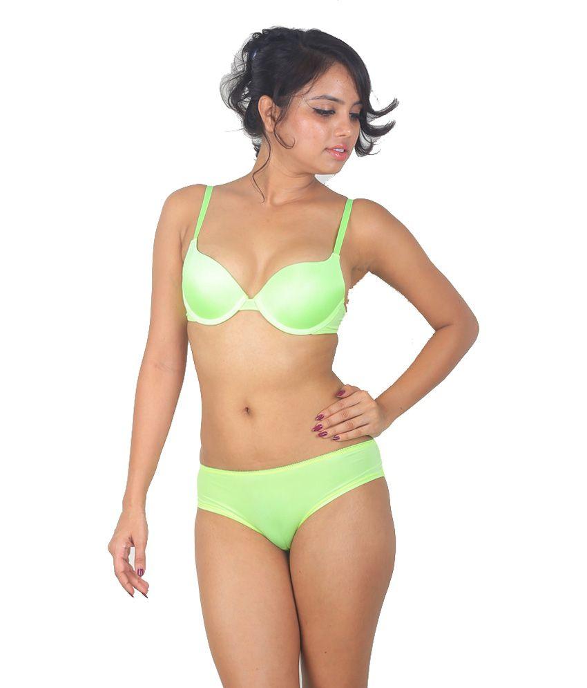 Buy Victoria's Secret Yellow Underwired Bra And Panty Set