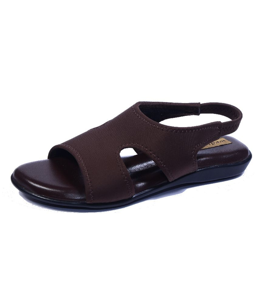 Wedges Wedges Brown Cross Strap Open Toe Sandals