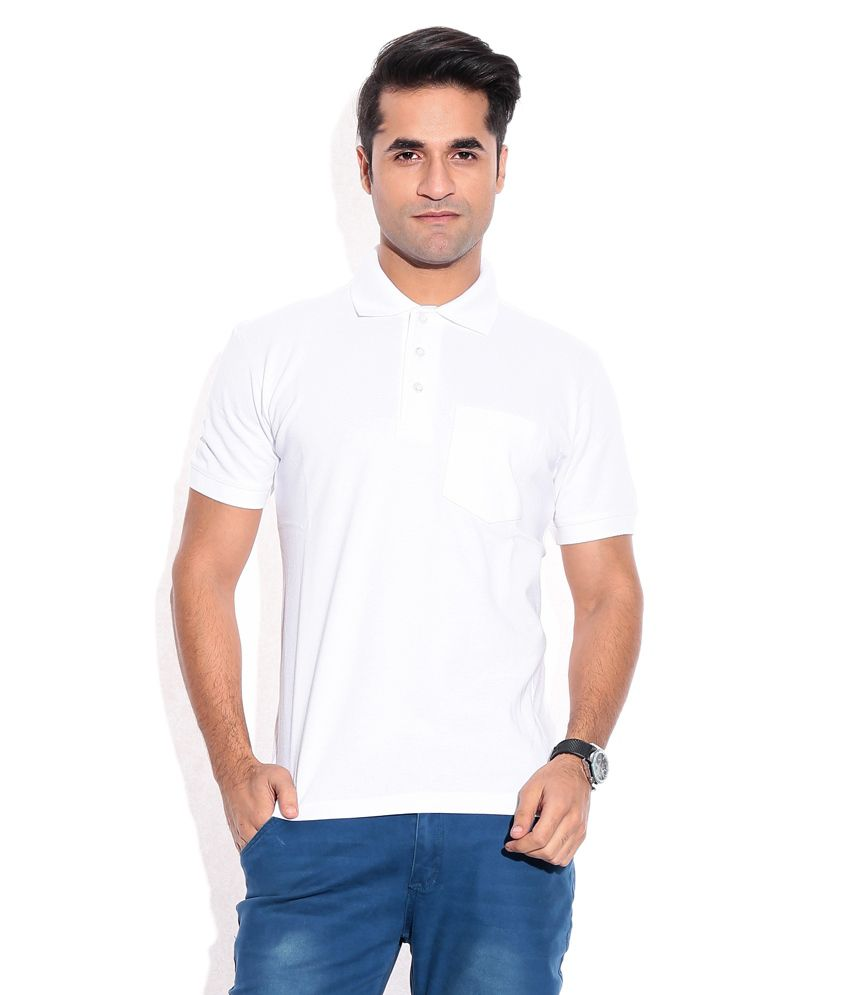 Wilkins & Tuscany 10259 Stylish White Men T Shirt
