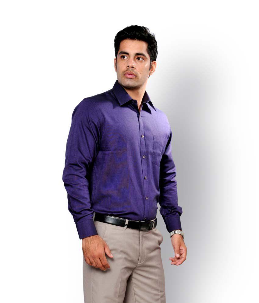 J.hampstead Men Purple Formal Shirt - Buy J.hampstead Men Purple ...