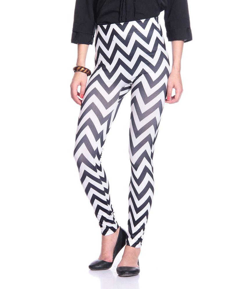 Concepts Black & White Cotton Lycra Skinny Jeggings