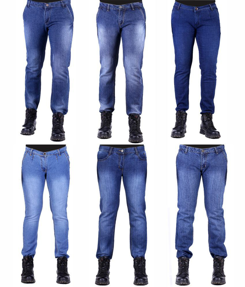 Haltung Men's Jeans Combo Of 6 Denim