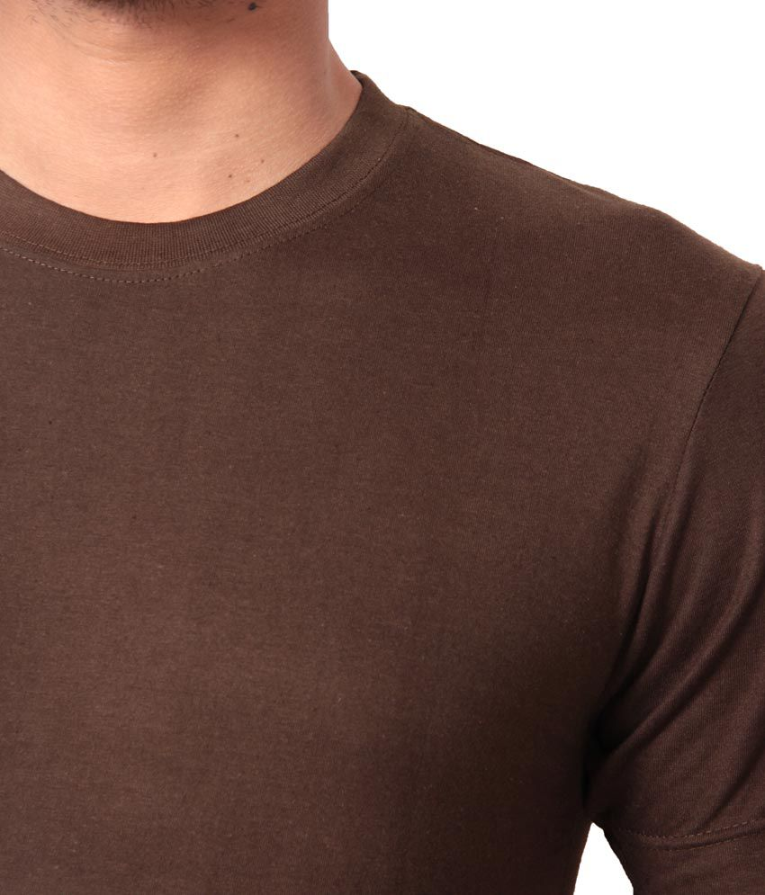 French CountyBrown Cotton T-shirt Combo Of 3