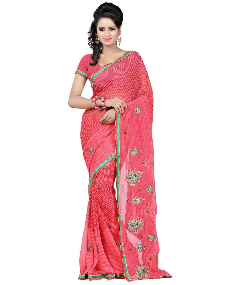 Bunny Sarees Brown Georgette Saree