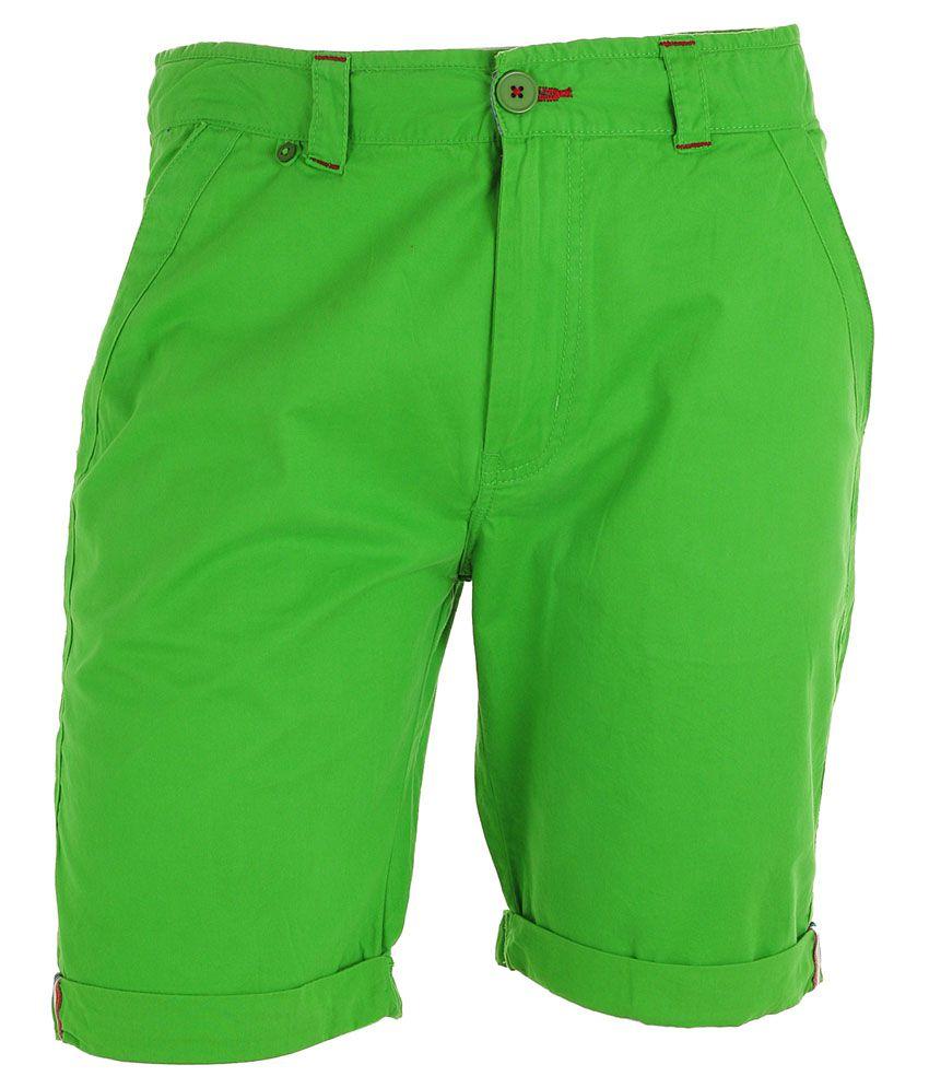 Faraday - Green Denim Cargo Shorts For Men