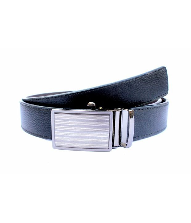 Imp Black Non Leather Autolock Buckle Reversible Belt