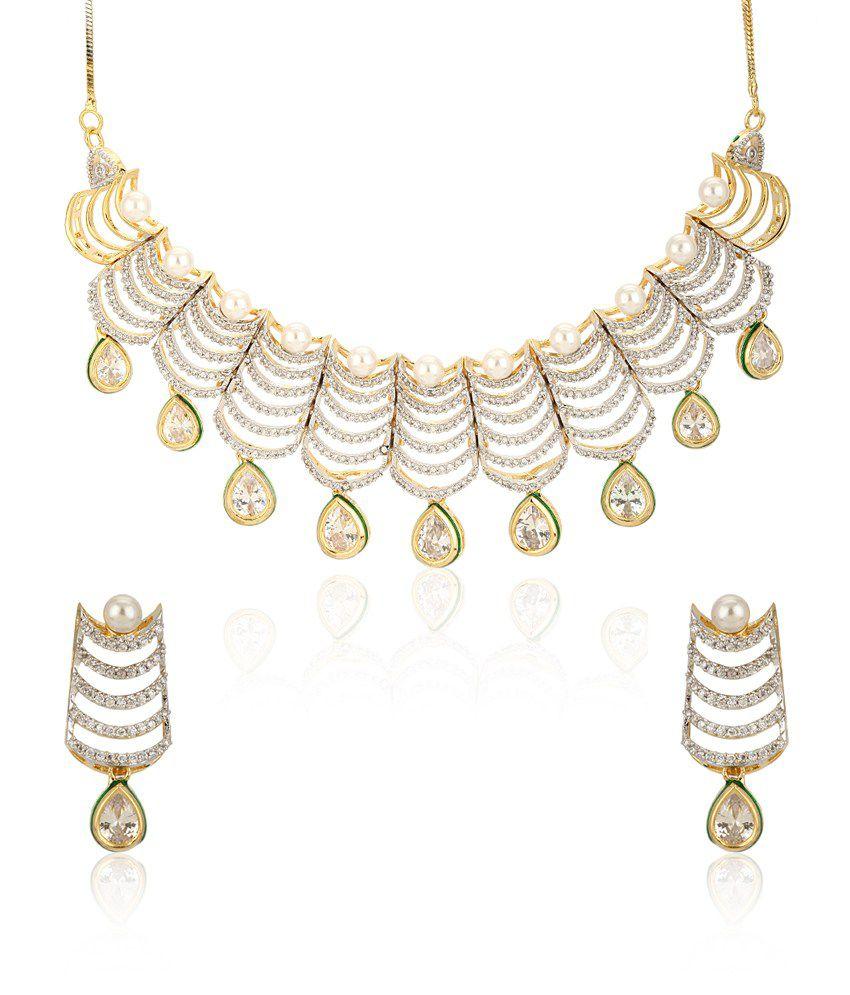 Jewels Galaxy Astonishing Wedding Designed Bridal Necklace Set