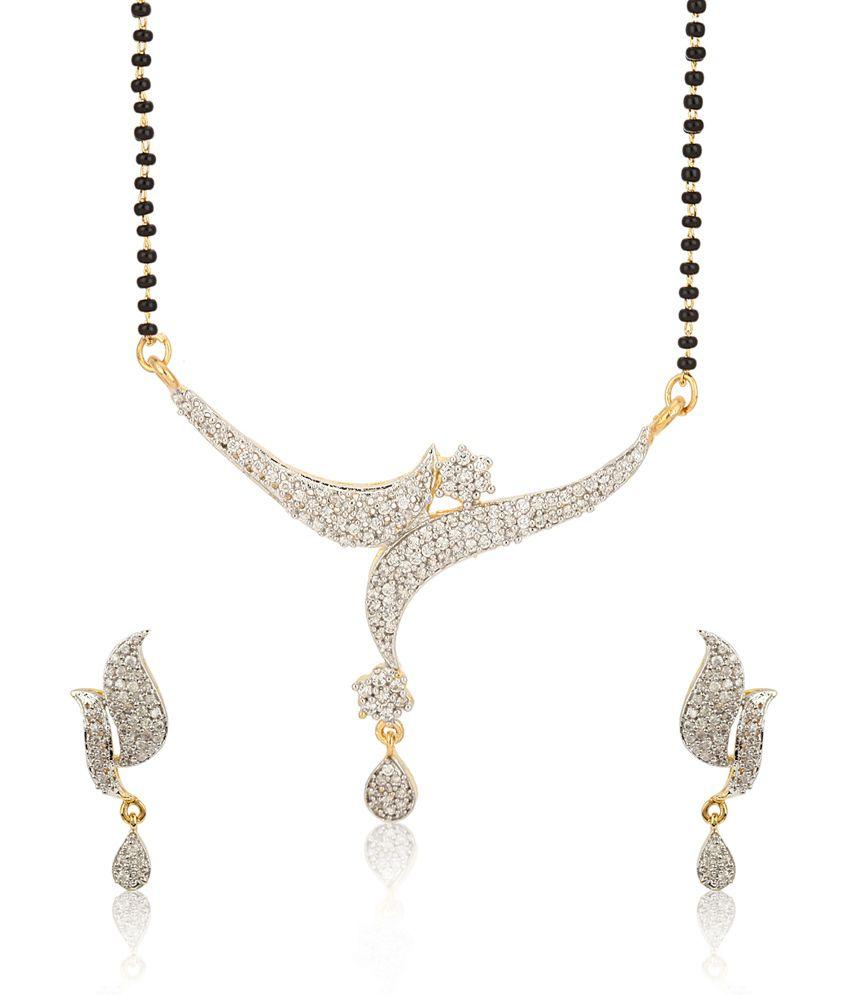 Jewels Galaxy Imperial American Diamond Mangalsutra Set