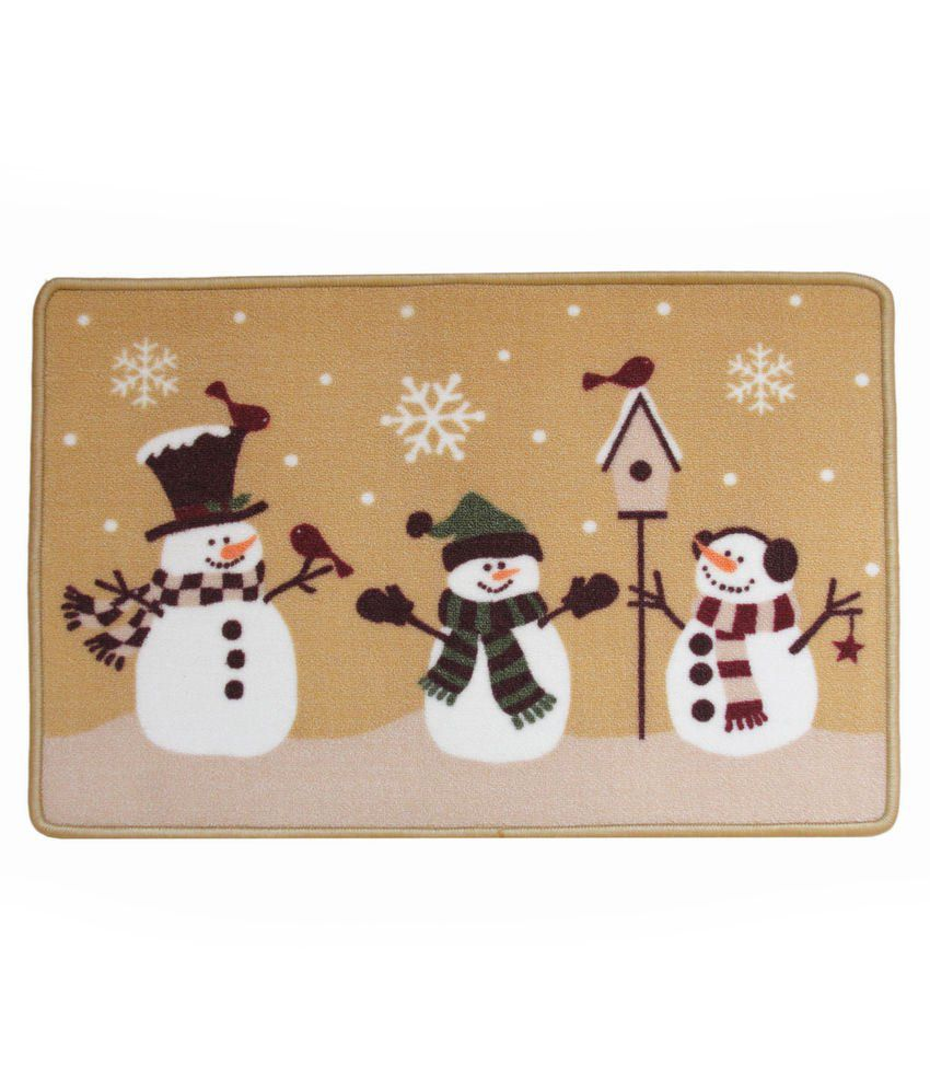 Majesty Home Decor Snowman Printed Doormat Buy Majesty Home Decor Snowman Printed Doormat