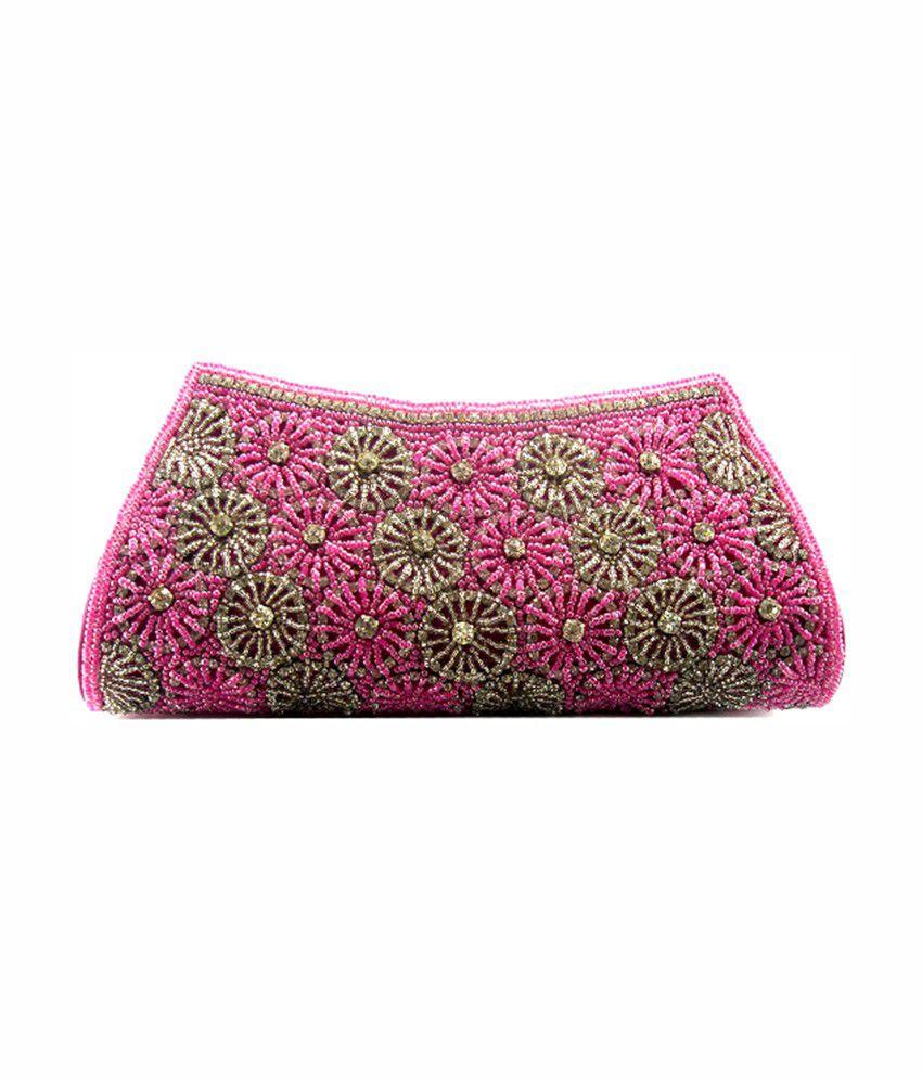 Abqa Pink P.u. Clutch