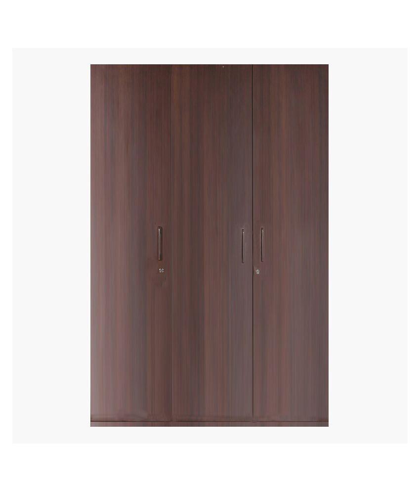 hometown duke plywood 3 door wardrobe buy online at best price in rh snapdeal com