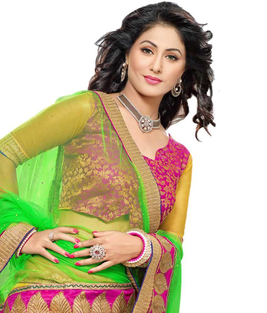 e5de180bcfa Indiawear Akshara(heena Khan) Designer Lehenga Choli - Buy Indiawear ...