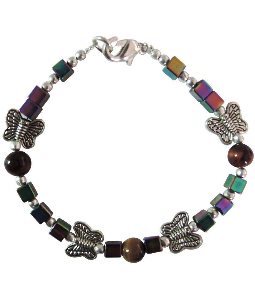Pearlz Ocean O! Butterfly Gemstone Beads 7.5 Inch Bracelet