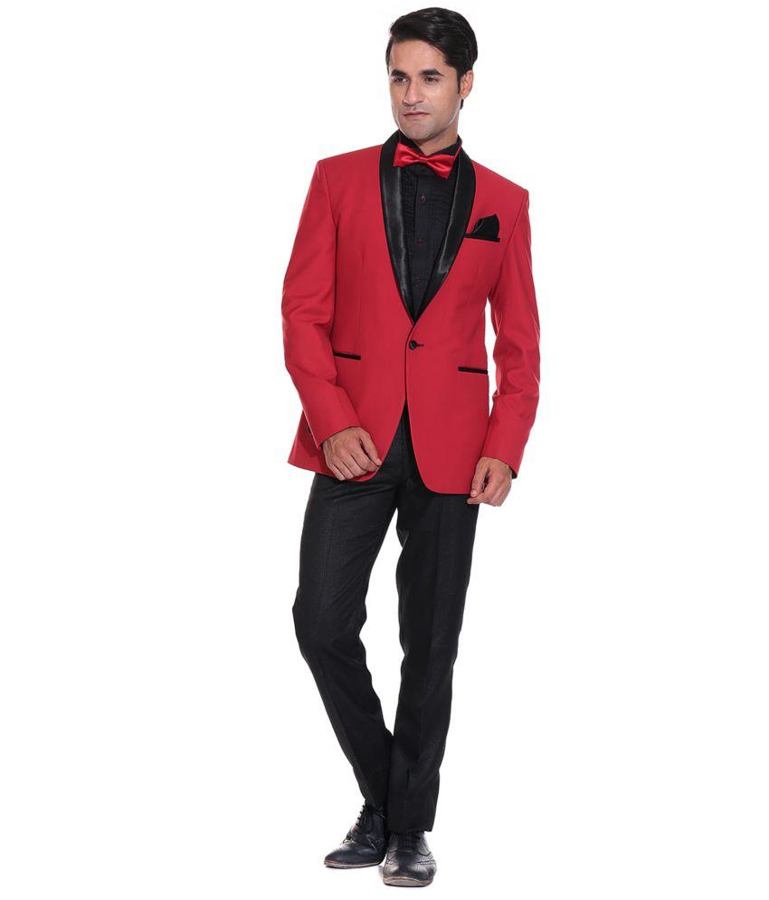 Red Party Wear Blazer One Button