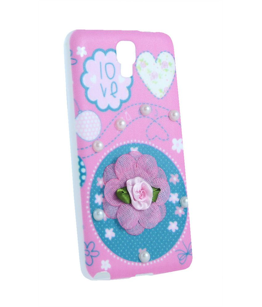 official photos c56c7 b13c7 Samsung Galaxy Note 3 Neo Soft Back Cover Case - Pink Flower