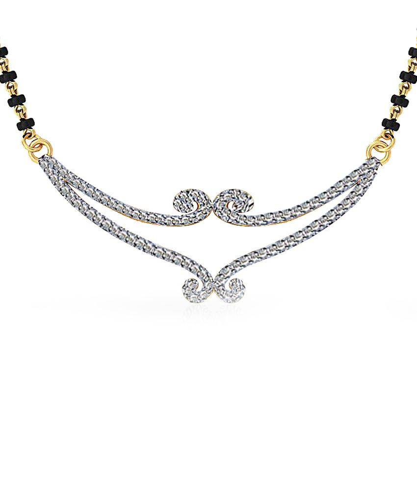 Jacknjewel 18kt Gold Contemporary Premila Maya Mangalsutra With Chain