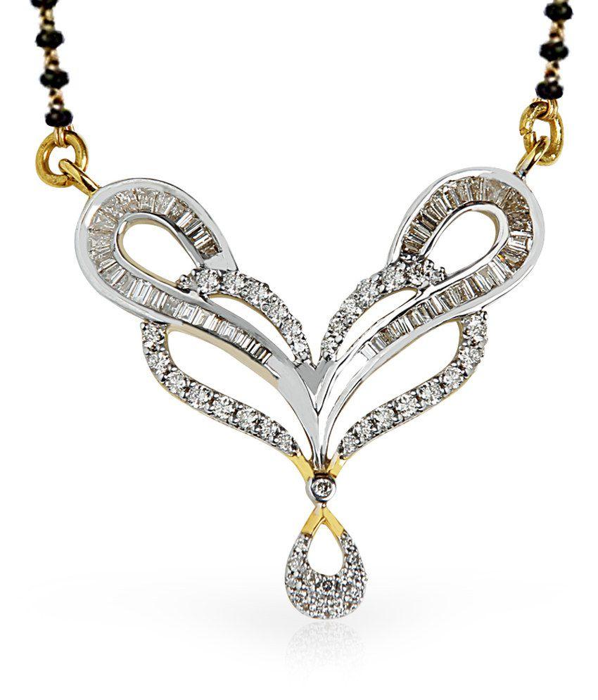 Jacknjewel 18kt Gold Contemporary Sarahi Diamond Mangalsutra With Chain