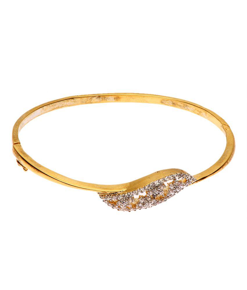 Rays Gold American Diamond Bracelet