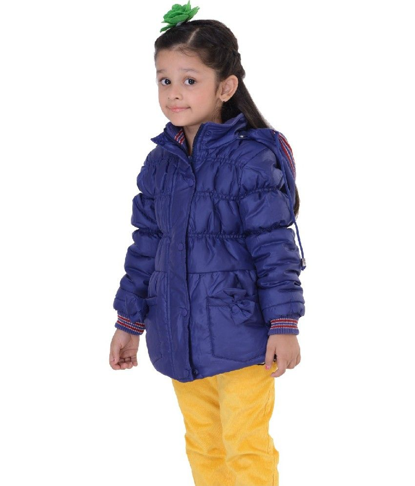 Sportking Full Sleeve Blue Color Hooded Padded Jackets For Kids