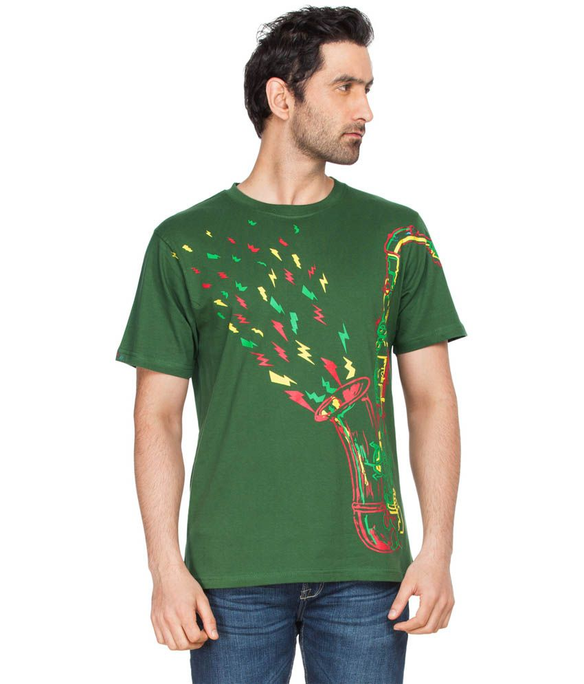 Zovi Jazz Up Cactus Green Graphic T-shirt