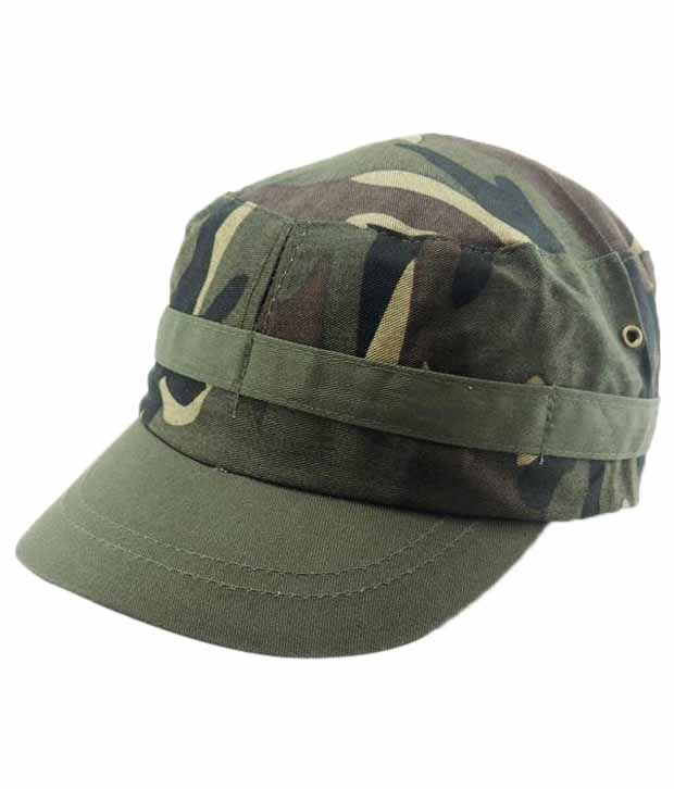 Jstarmart Green Military Cap Men
