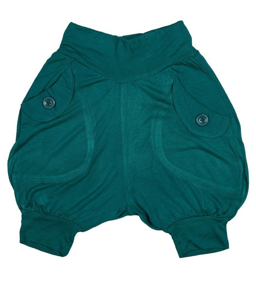People Green Shorts For Girls