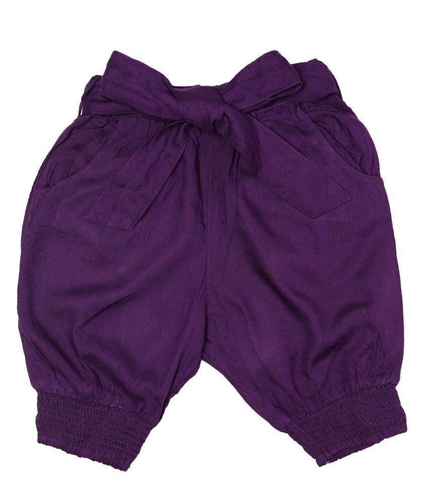 People Purple Capris For Girls
