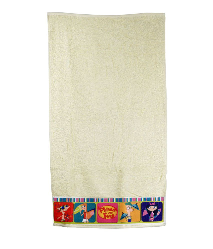 Disney Sassoon Cream Cotton Bath Towel