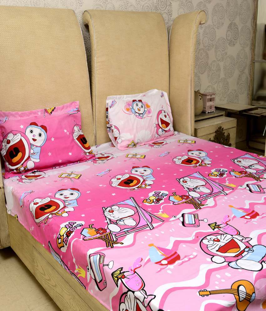Sassoon Doraemon Pink Baby Themes Polyester Double