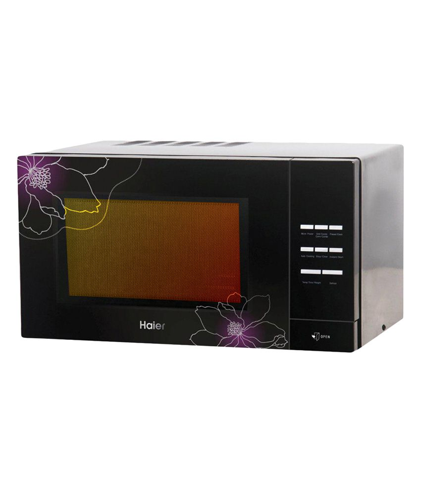 Haier 23 Ltr 2301cbsb Convection Microwave Oven Black With Fl Design