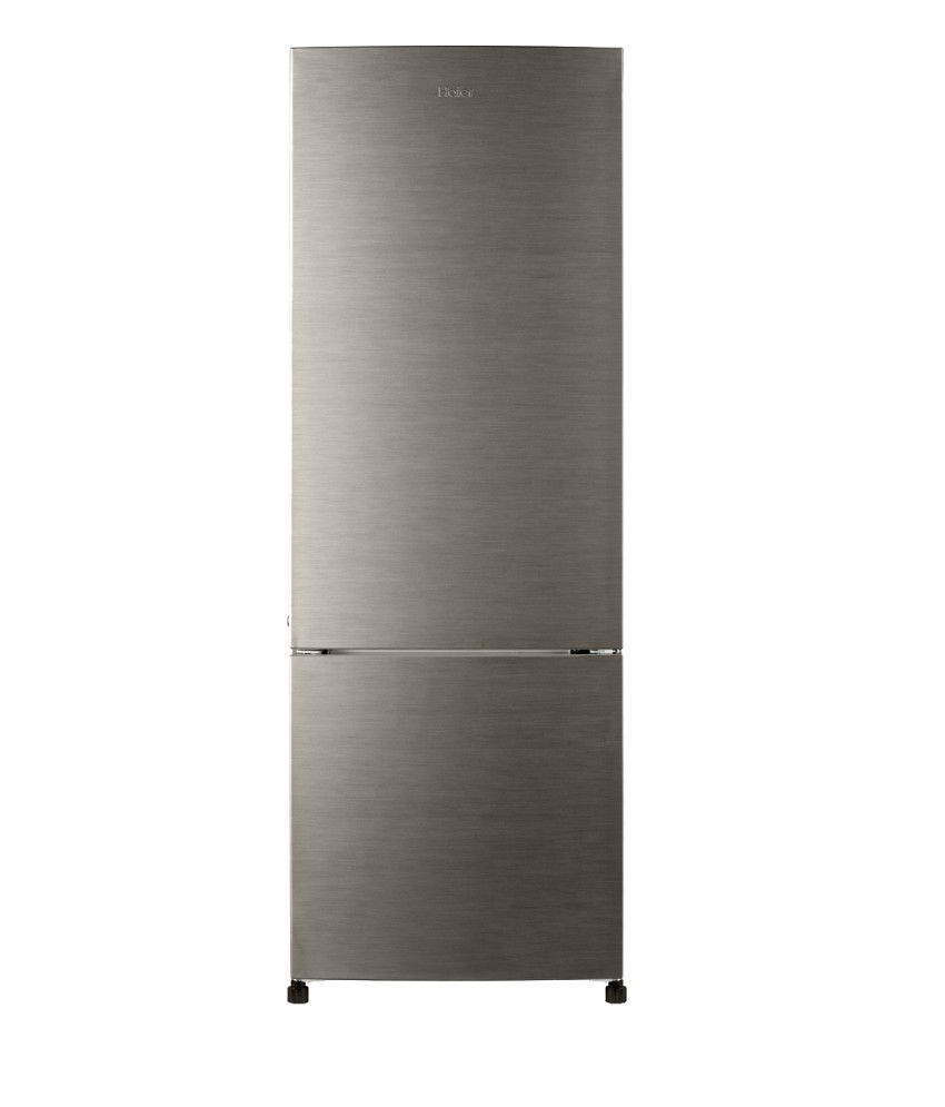 Haier 320 Ltr HRB-3404BS-H/3404BS-R Bottom Mounted Refrigerator - Brushline Silver