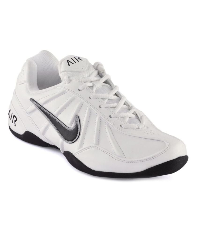 Nike White Synthetic Leather Sport Shoes ...