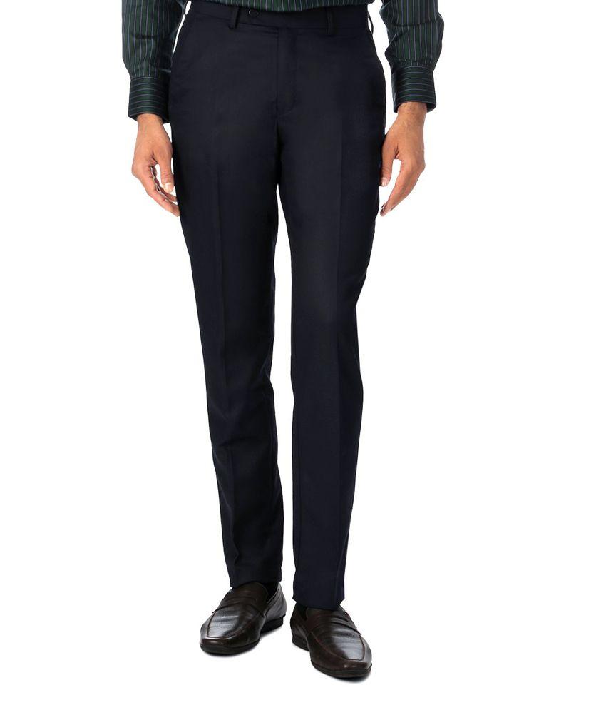 Peter England Black Slim Formals