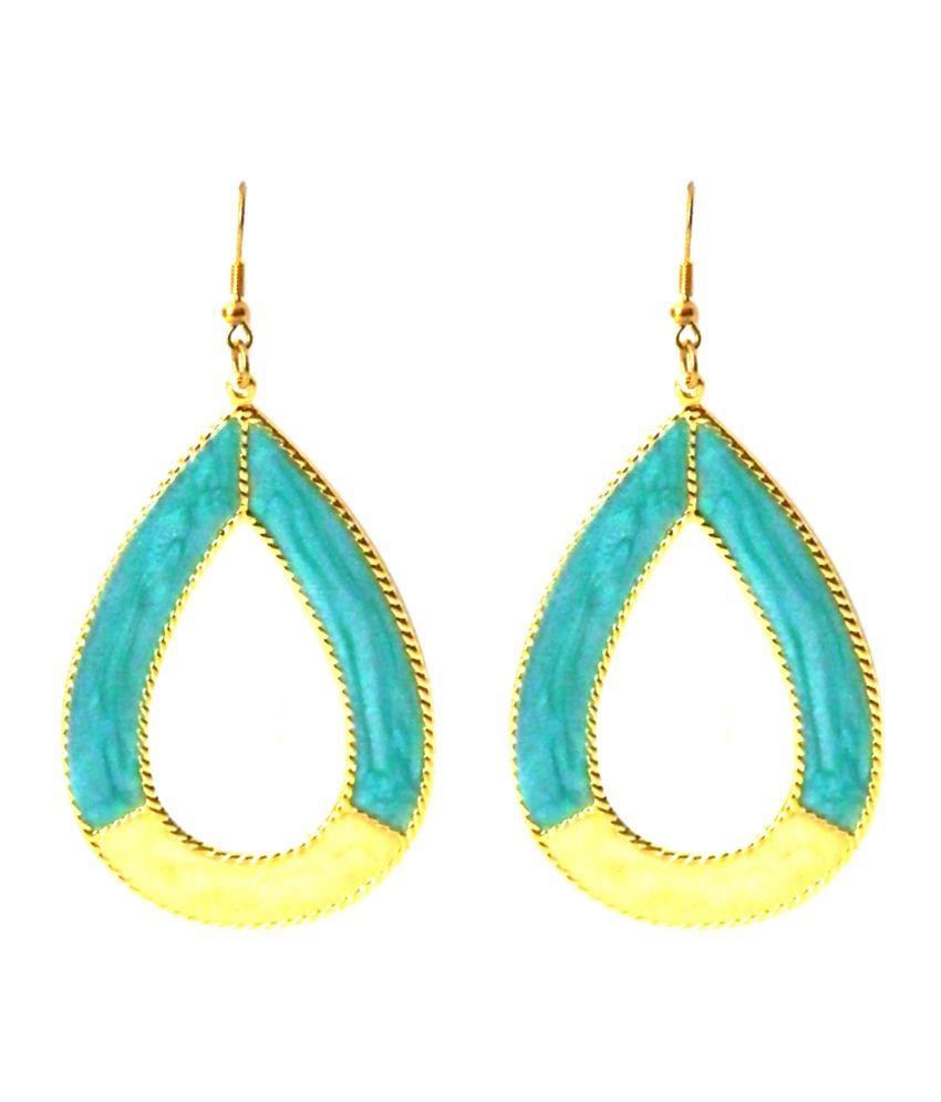 Queenz Fashion Blue Style Diva Dangle Earrings