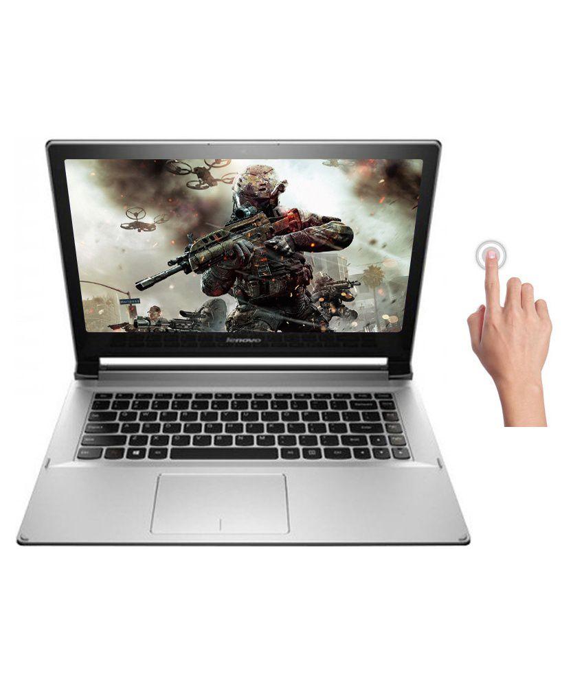 Lenovo Flex 2-14 (59-429729) Notebook (4th Gen Core i5- 4GB RAM- 500GB  HDD+8GB SSD- 35 56cm (14) TS- Win 8 1- 2GB Graphics) (Grey)
