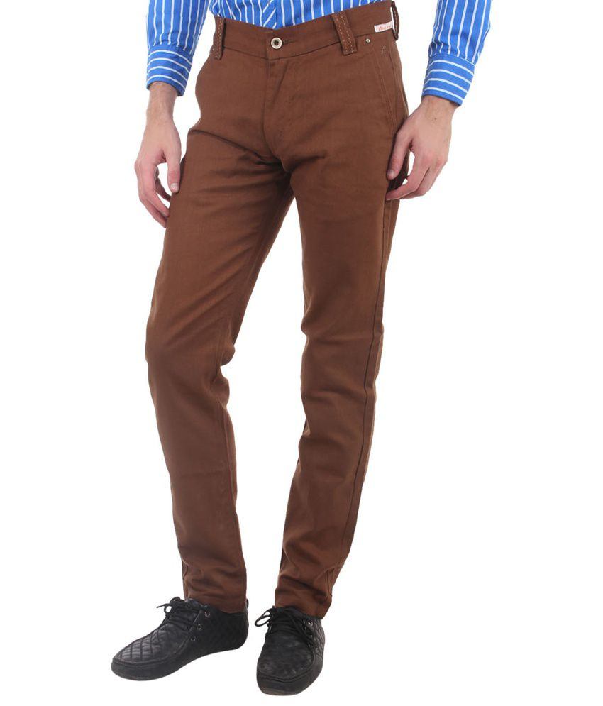 Fashion Factory Brown Cotton Chinos