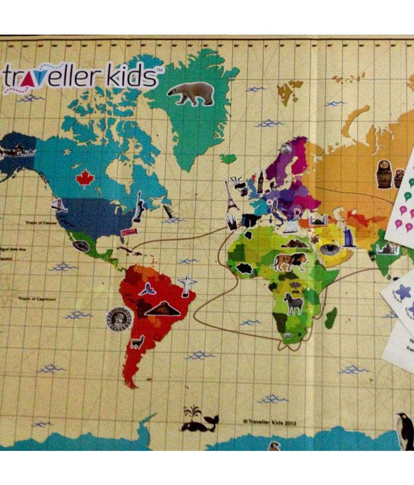 Traveller kids interactive world map kit educational geography game traveller kids interactive world map kit educational geography game gumiabroncs Image collections