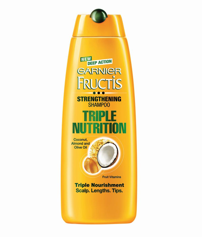 Garnier Fructis Triple Nutrition Shampoo 340ml Pack Of Two