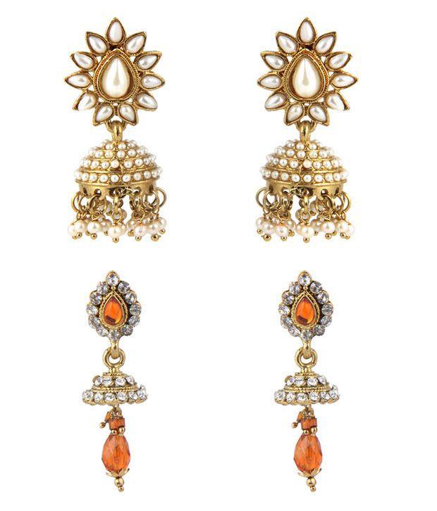 Jewelizer Ethnic Earrings Combo Jfec10074