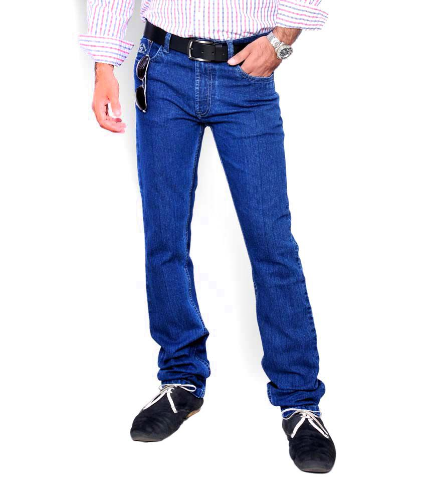 Oxemberg Men Blue Stretchable Regular Fit Jeans