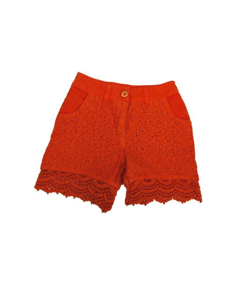 Ufo Popsicle Orange Color Shorts For Kids
