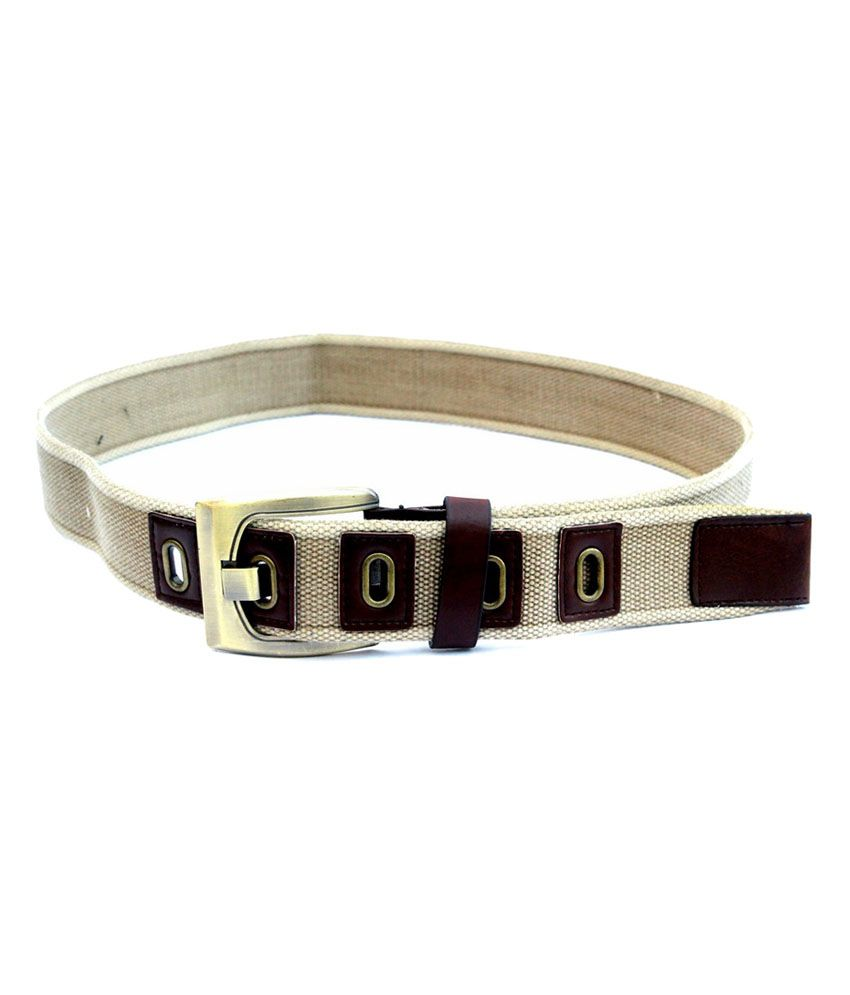 Imp Beige Casual Belt For Men