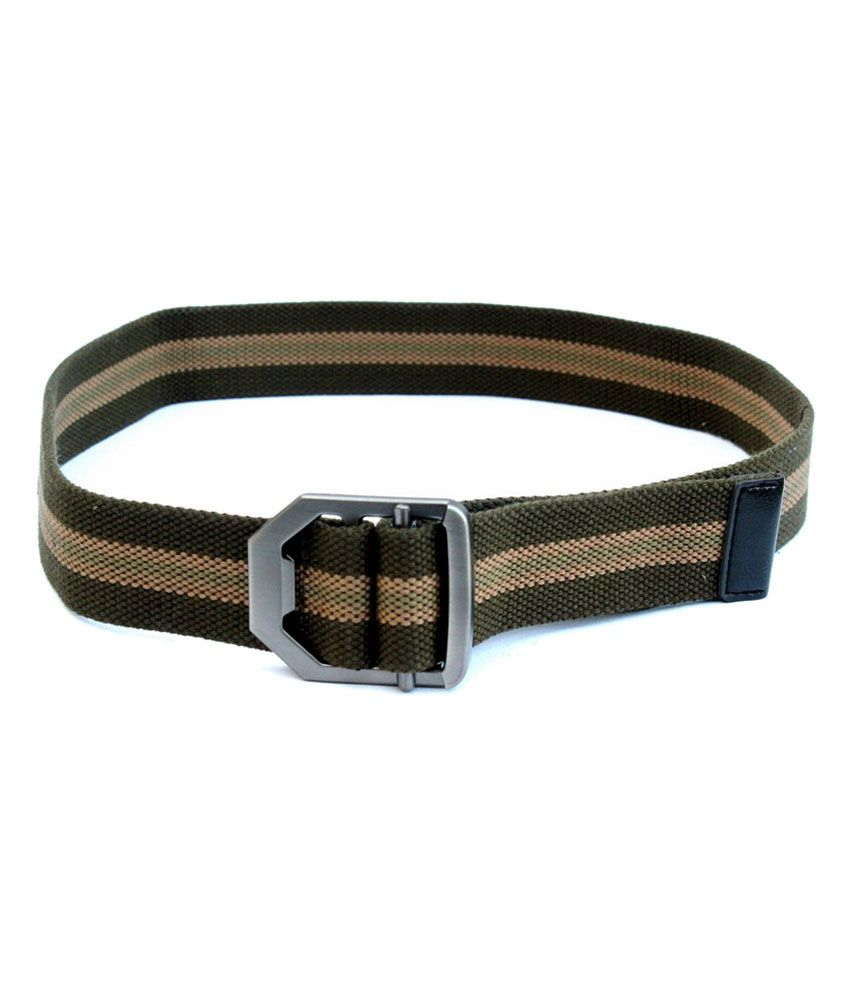 Imp Green Casual Belt For Men