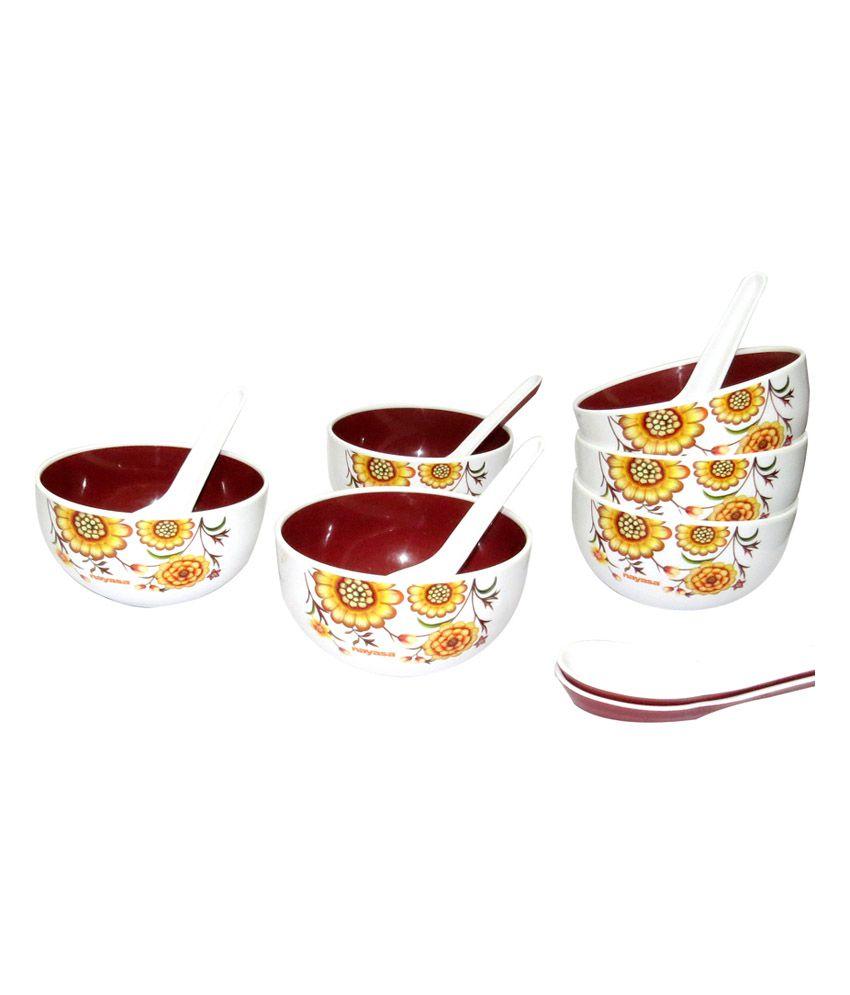 Nayasa Soup Bowl Set Brown   12 Pieces