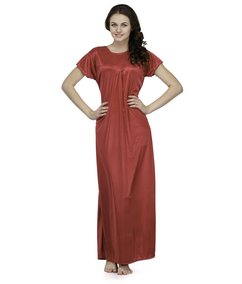 Oleva Red Satin Nightsuit Sets Pack of 2