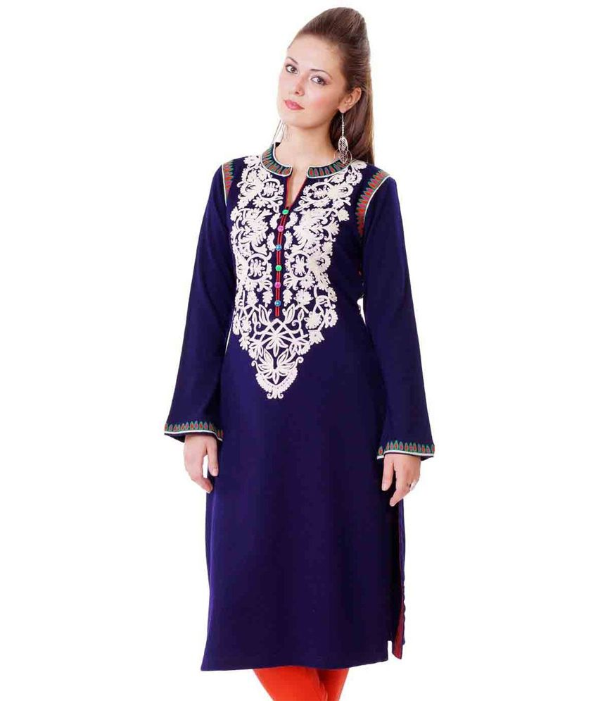 d0a3d2c187 Purple Woolen Kurti - Buy Purple Woolen Kurti Online at Best Prices in India  on Snapdeal