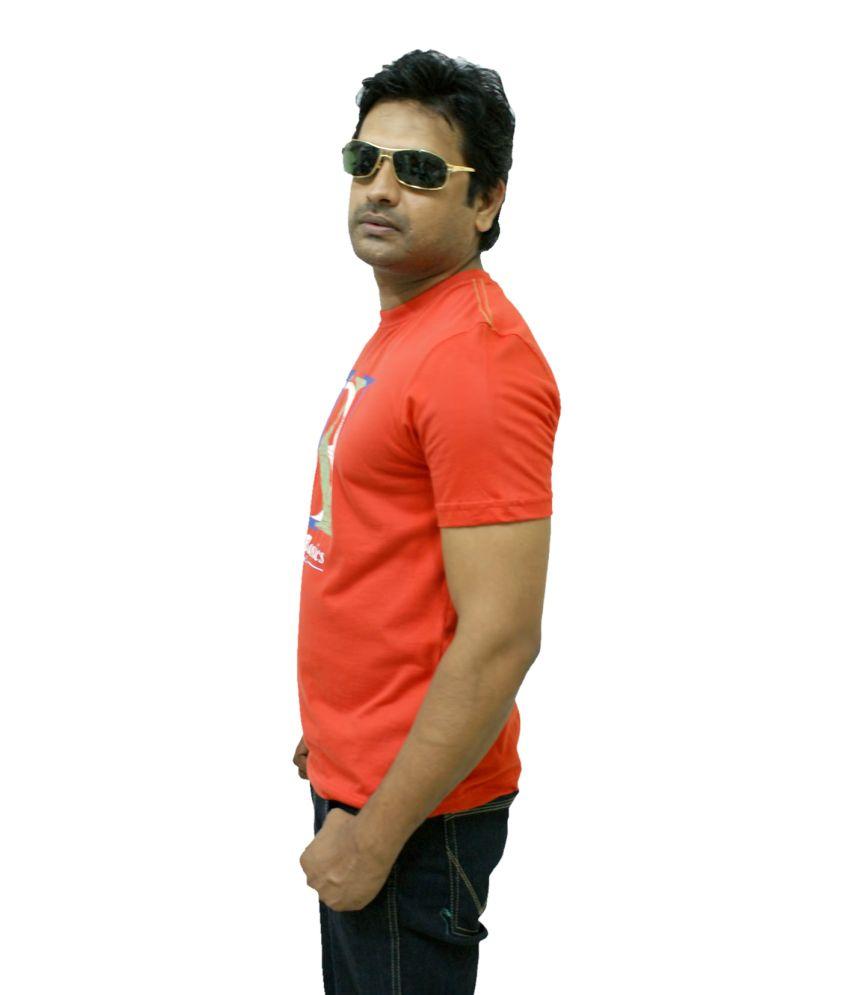 Uk Basics Round Neck Red T Shirt