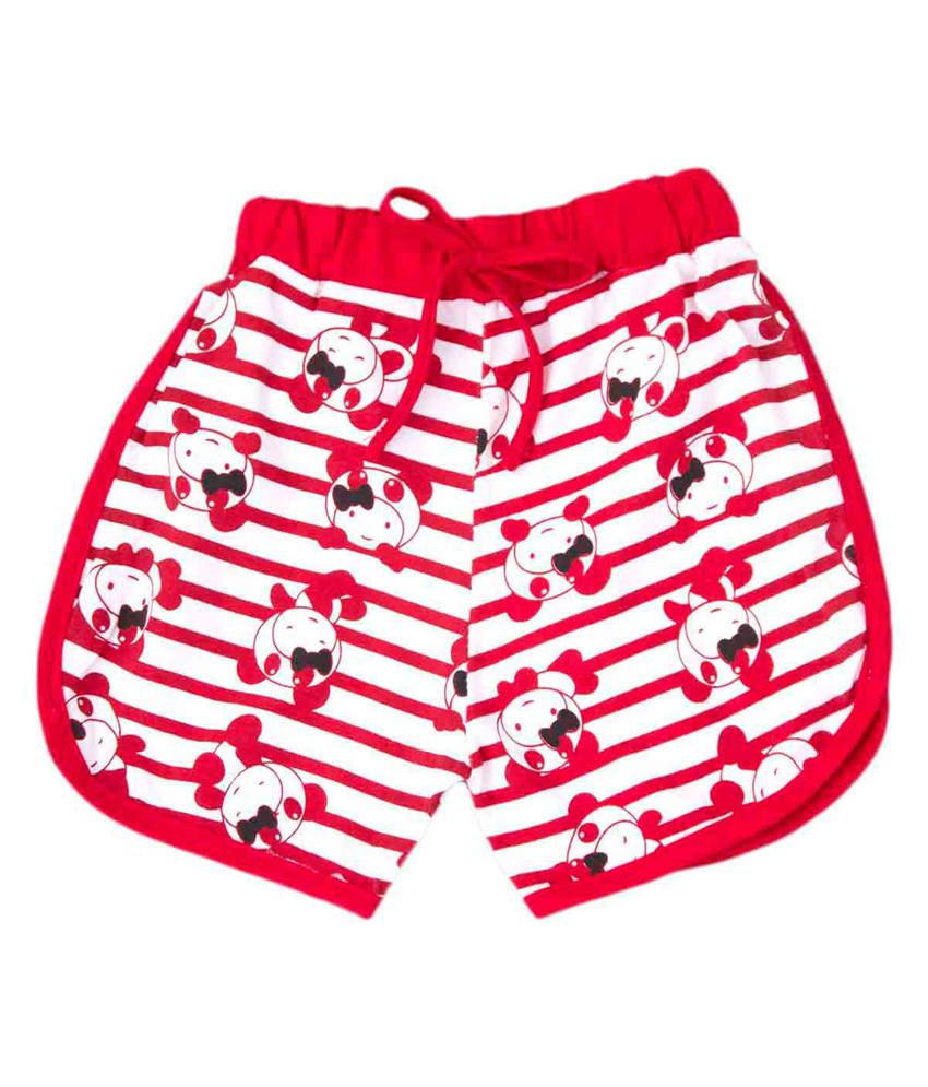 Bed Bugs Red Cotton Beyond The Cut-Off Shorts