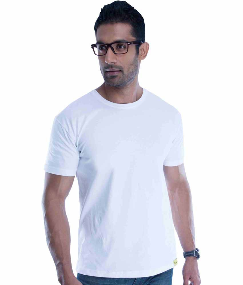 Double F White Round Neck T Shirt